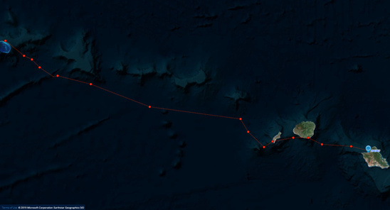 OA48, Motherload return tracks from French Frigate Shoals.