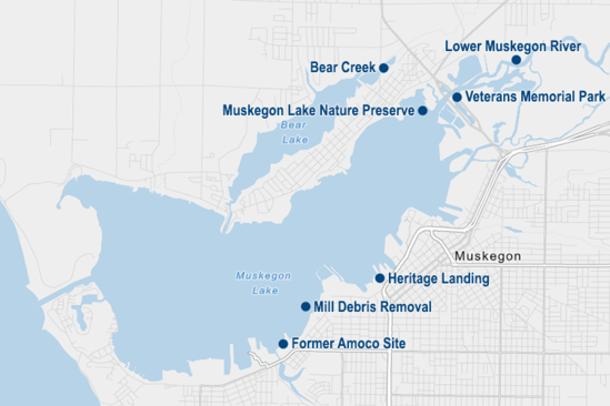 Map of restoration project sites