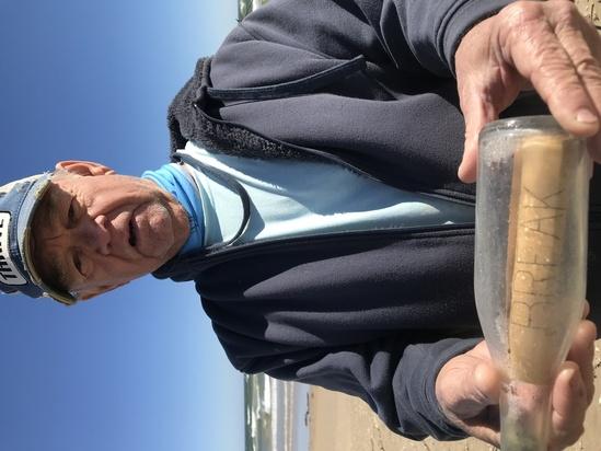 bottle found along beach