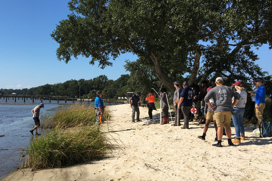 2018-10 GulfCorps Yr2 Orientation Beach Field Work Mike Dumas TNC.jpg