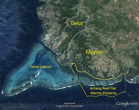Google Earth map of the Manell-Geus Habitat Focus Area