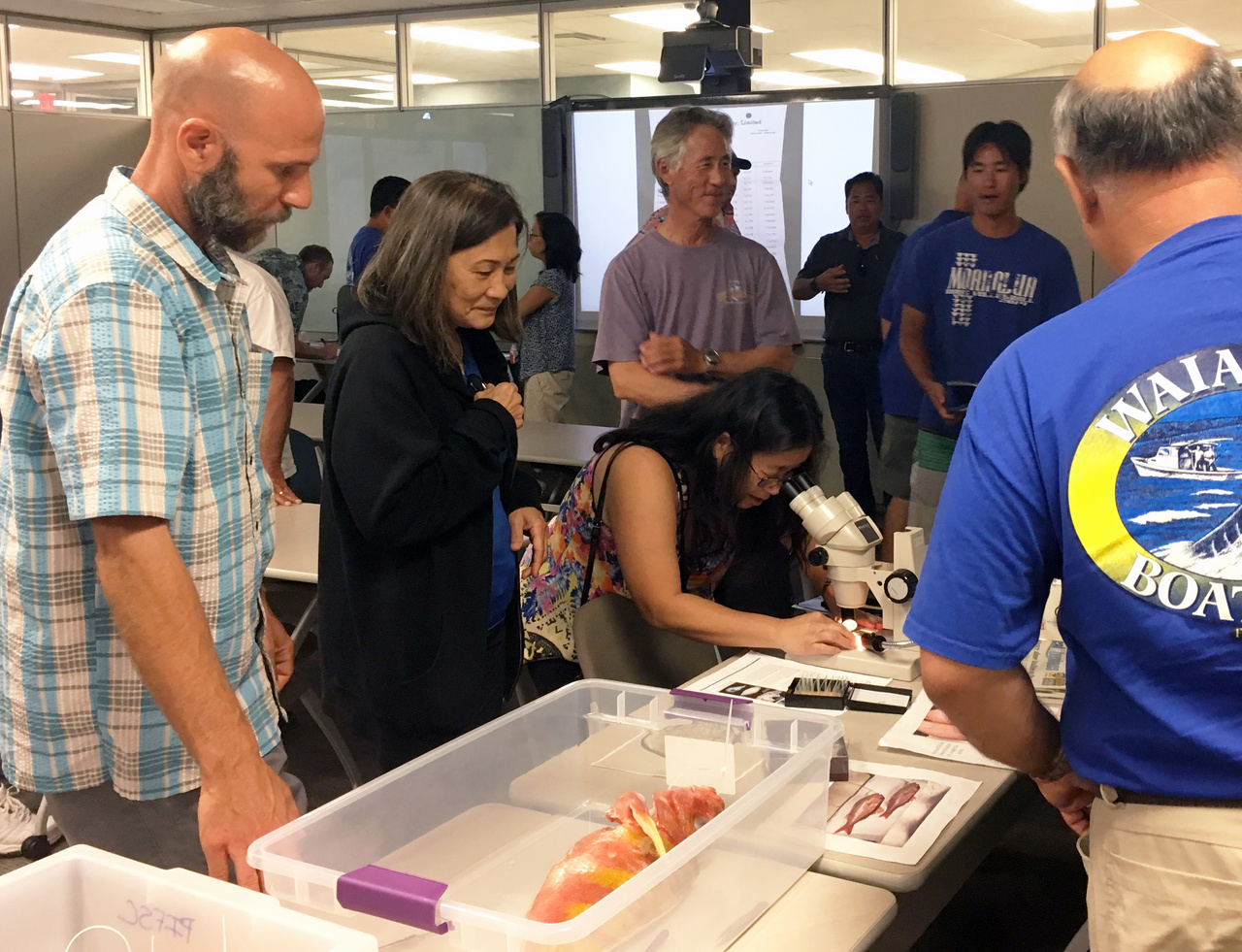 Participants learn about the science, life history, and traditions of bottomfish fishing in Hawaii