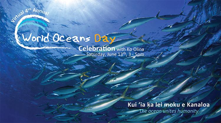 Virtual 4th Annual World Oceans Day Banner