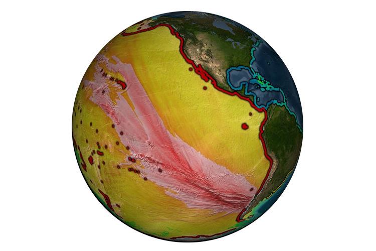 1960 Chilean Tsunami energy map.