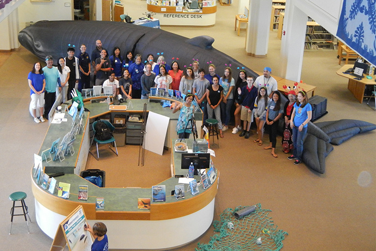NOAA staff and volunteers participating at Discovery Day event.