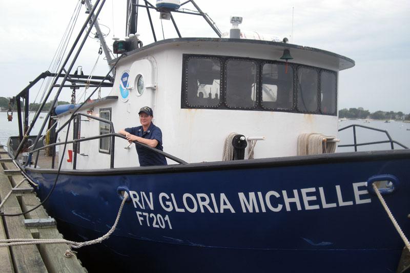 Lt Villard Howe aboard the boat.