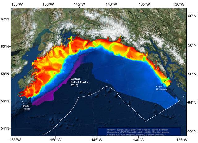 Bathymetry of Central Gulf of Alaska