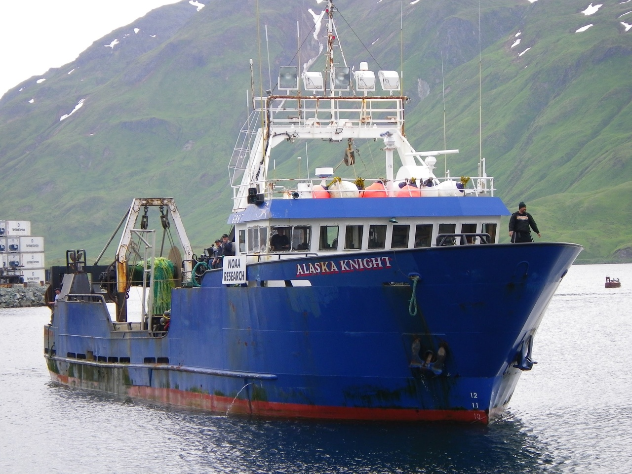 Photo taken during Leg 2 of the 2010 survey of the Eastern Bering Sea shelf, conducted 28 June - 19 July 2010 aboard the F/V Alaska Knight. Robert R. Lauth, Field Party Chief.