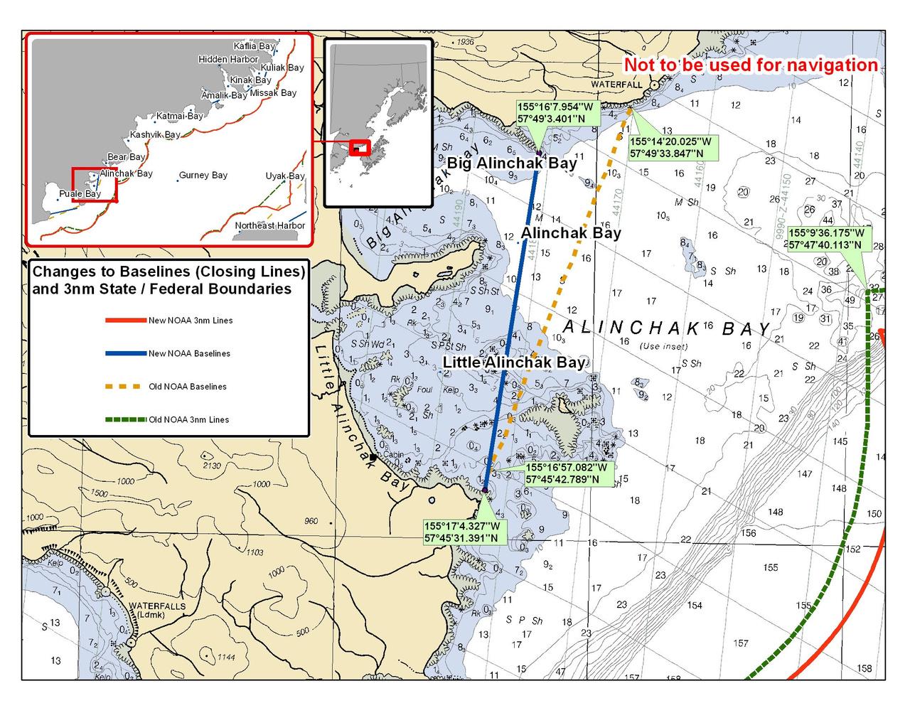 Chart for Alinchak Bay