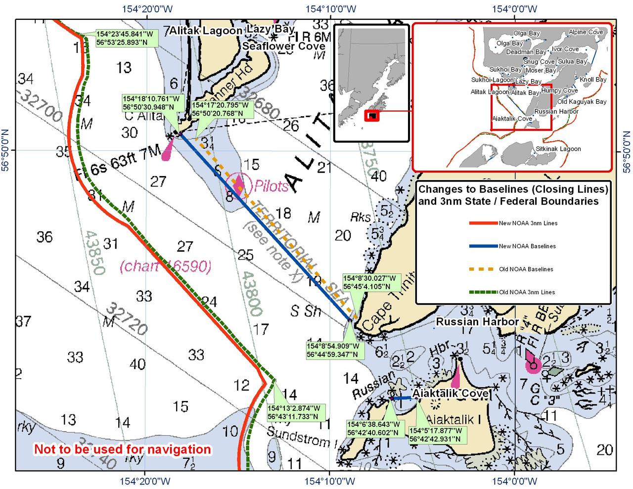 Chart for Alitak Bay