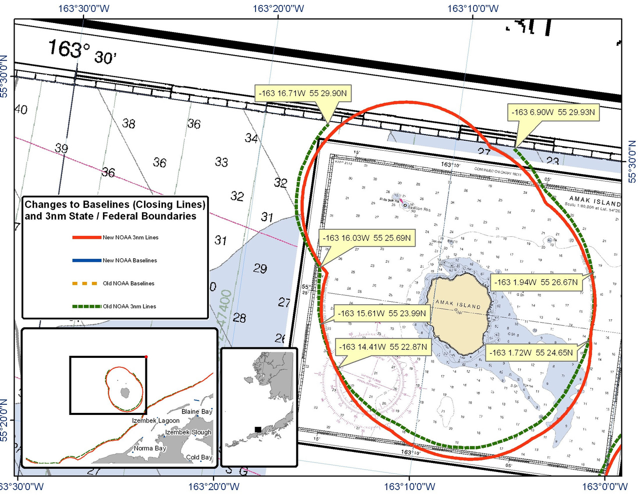 Chart of Amak Island