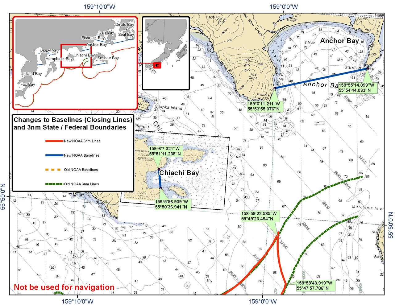 Chart for Anchor Bay and Chiachi Bay