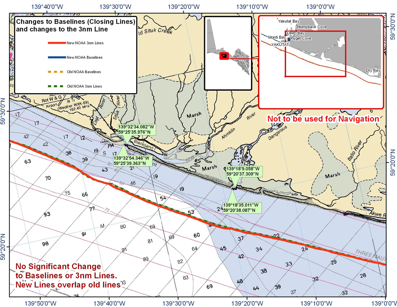 Chart for Area between Yakutat and Dry Bay
