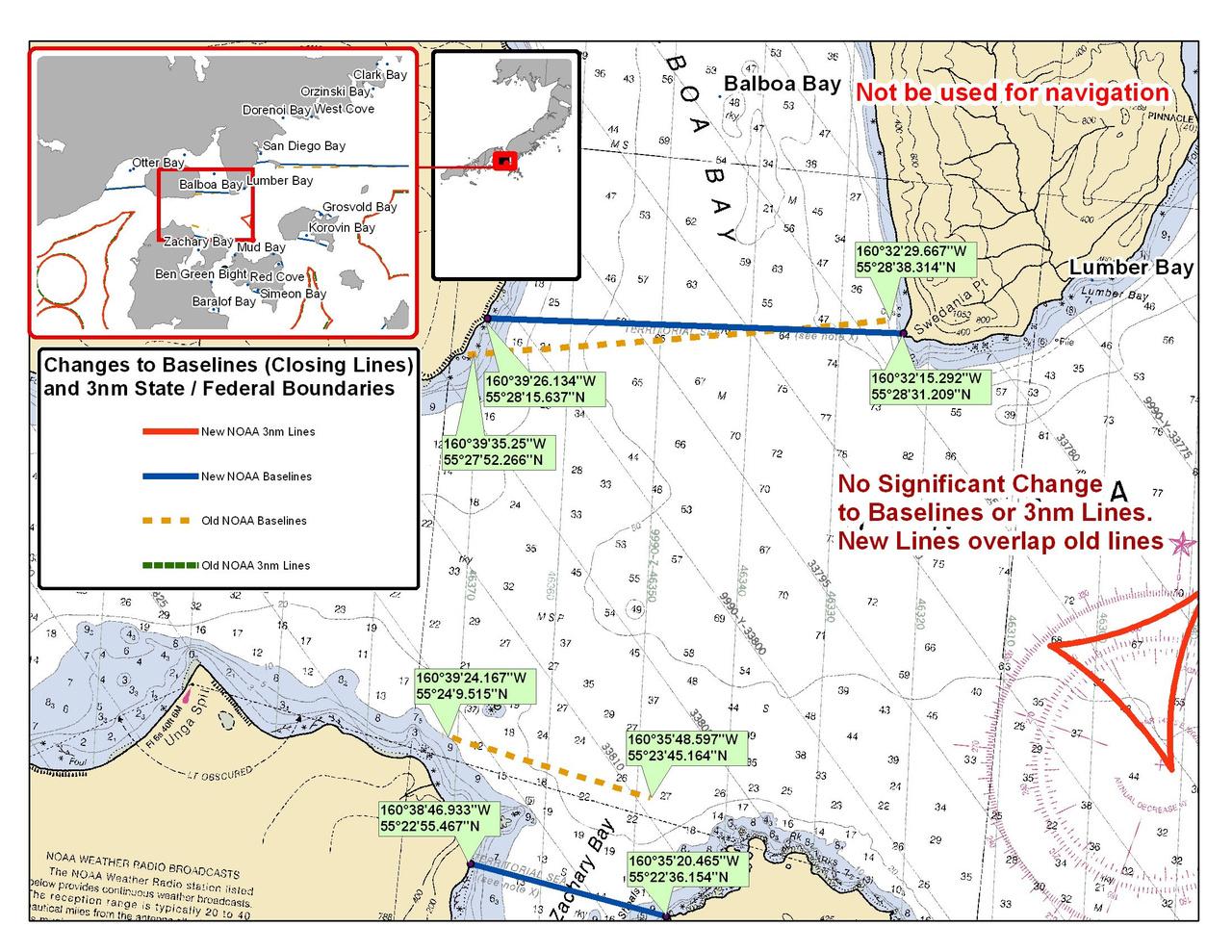 Chart for Balboa Bay and Zachary Bay