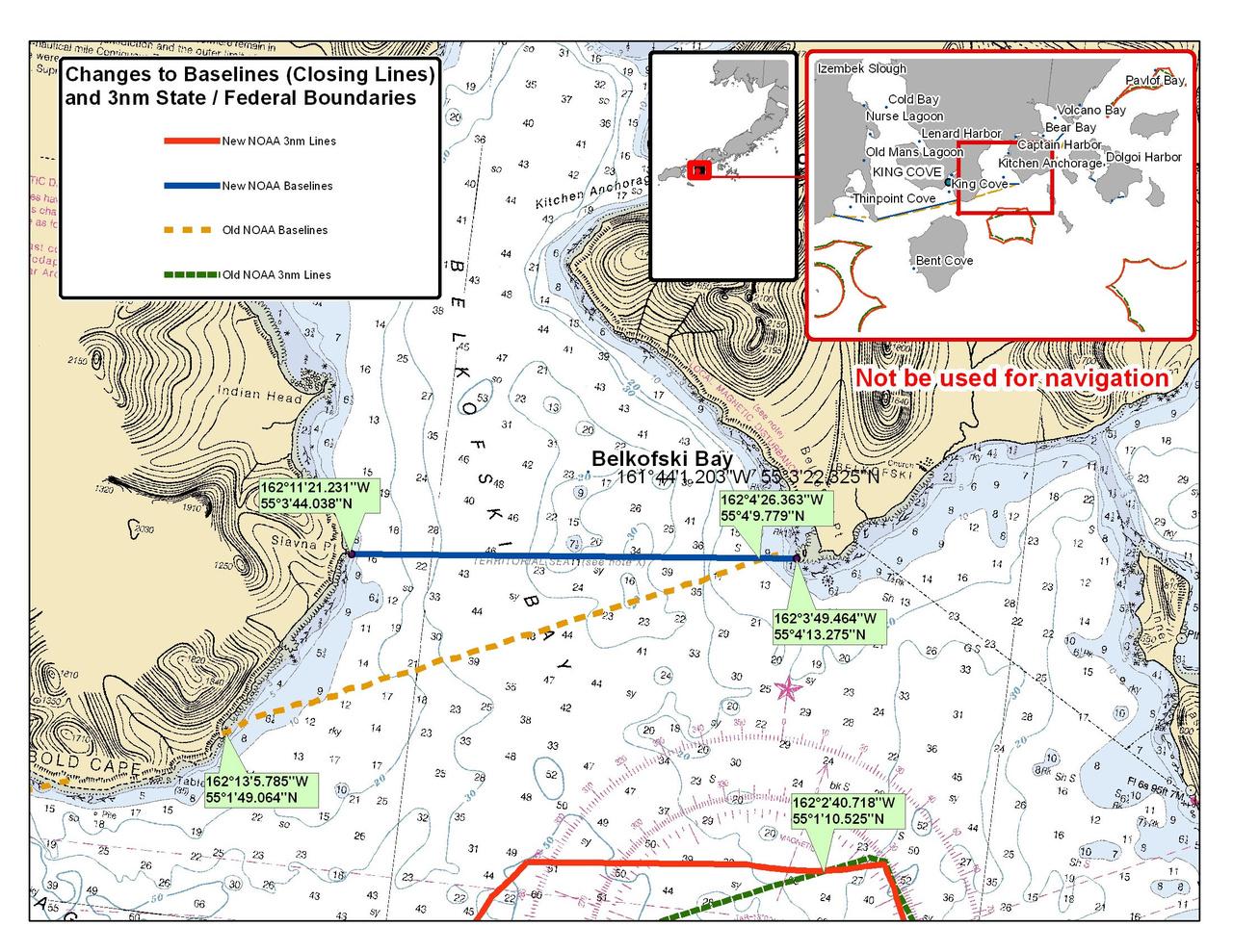 Chart for Belkofski Bay