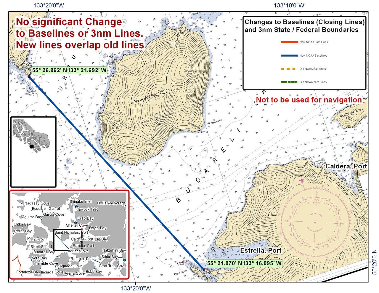 Chart for Bucarelli Bay