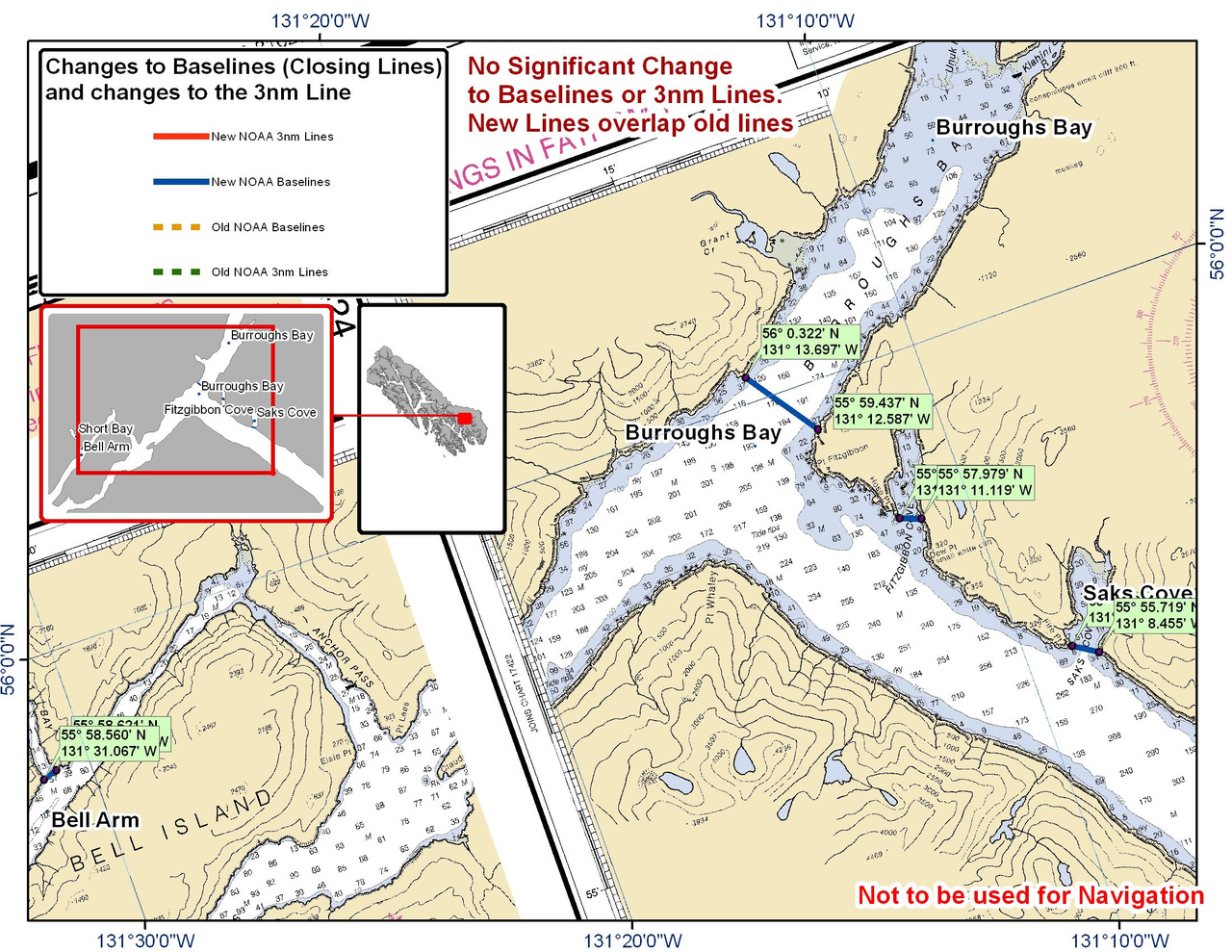 Chart for Burroughs Bay and the Surrounding Area