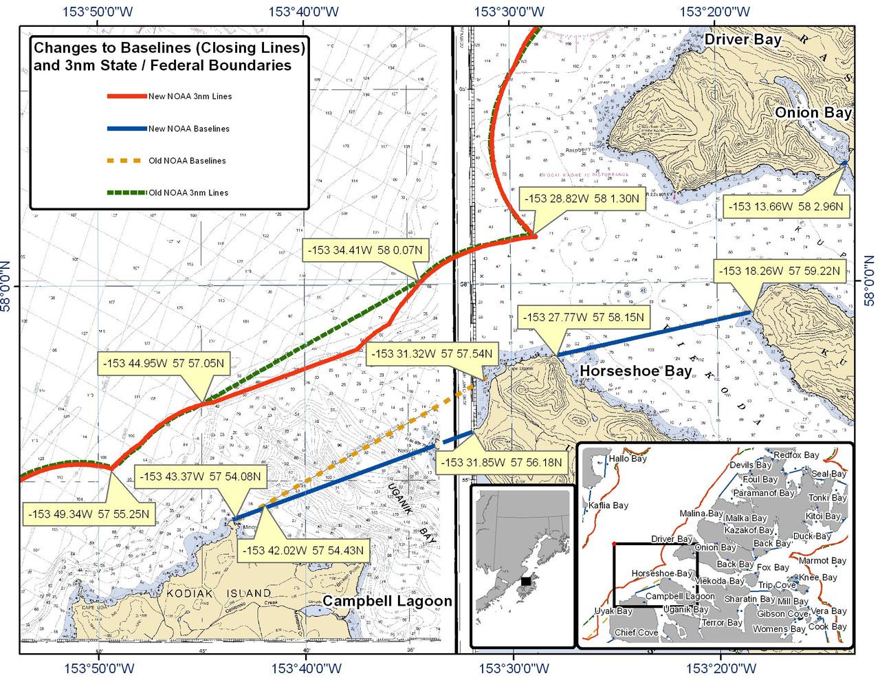 Chart Campbell Lagoon and Horseshoe Bay