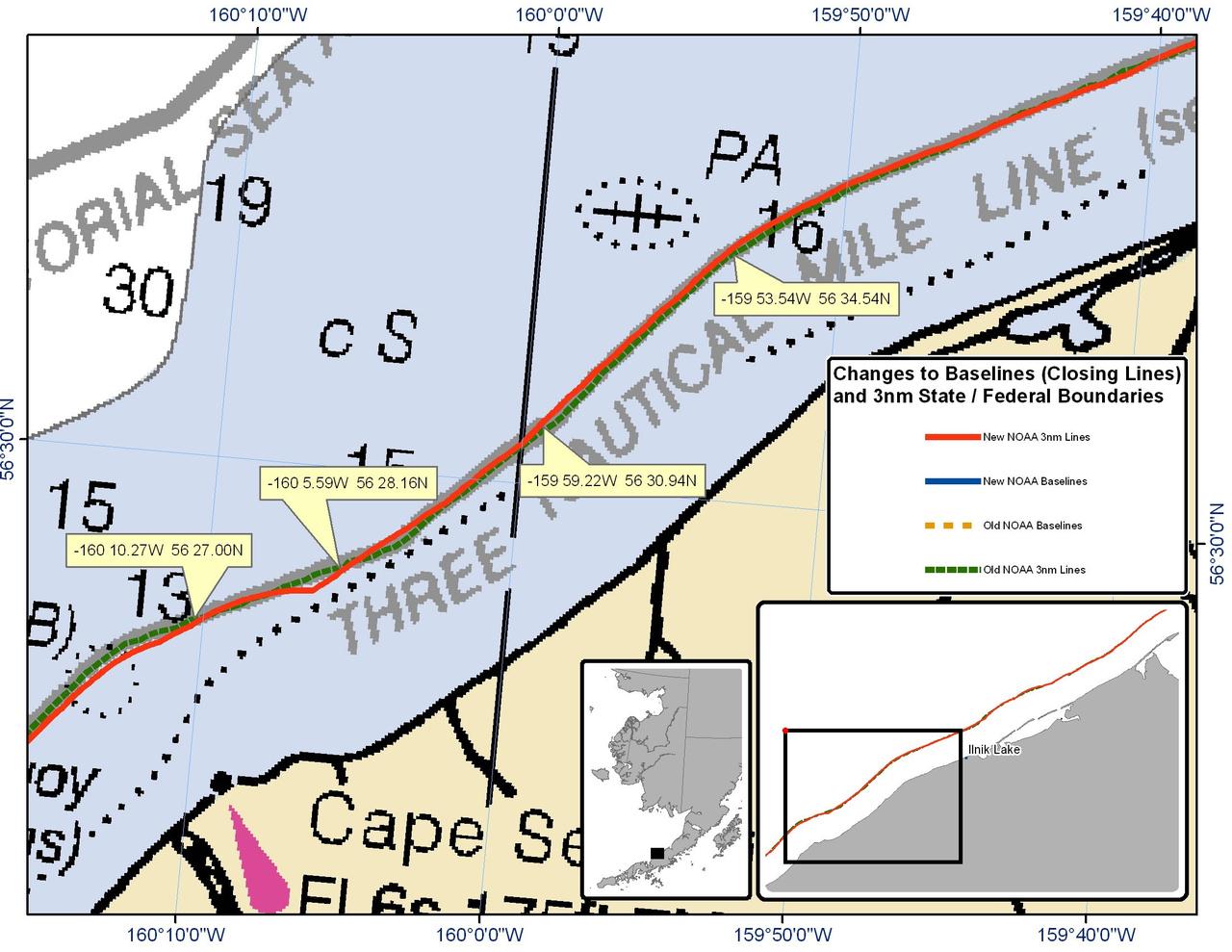 Chart for Cape Seniavin