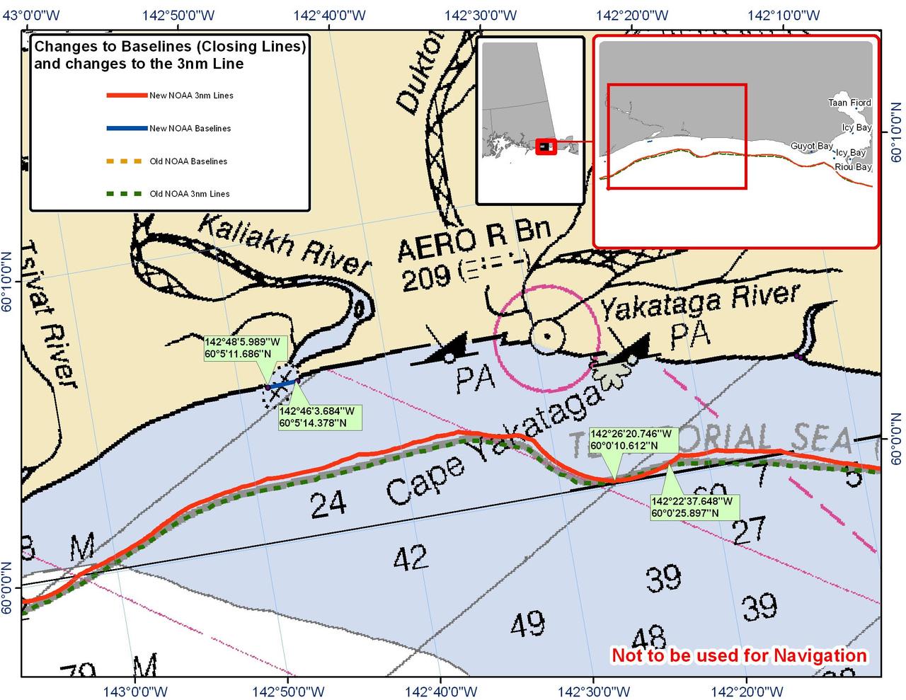 Chart for Cape Yakataga
