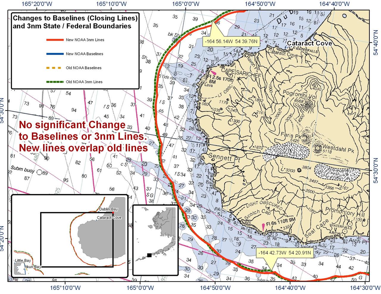 Chart for Cataract Cove