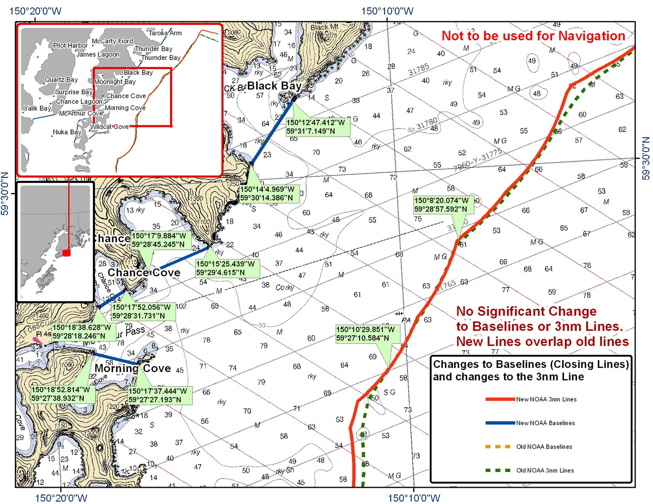 Chart for Chance Cove and the Surrounding Area