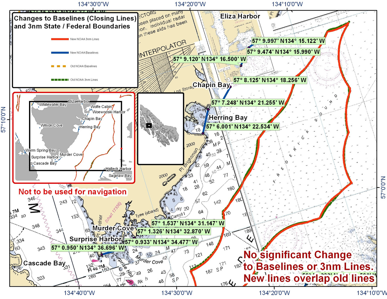 Chart for Chapin Bay and the Surrounding Area