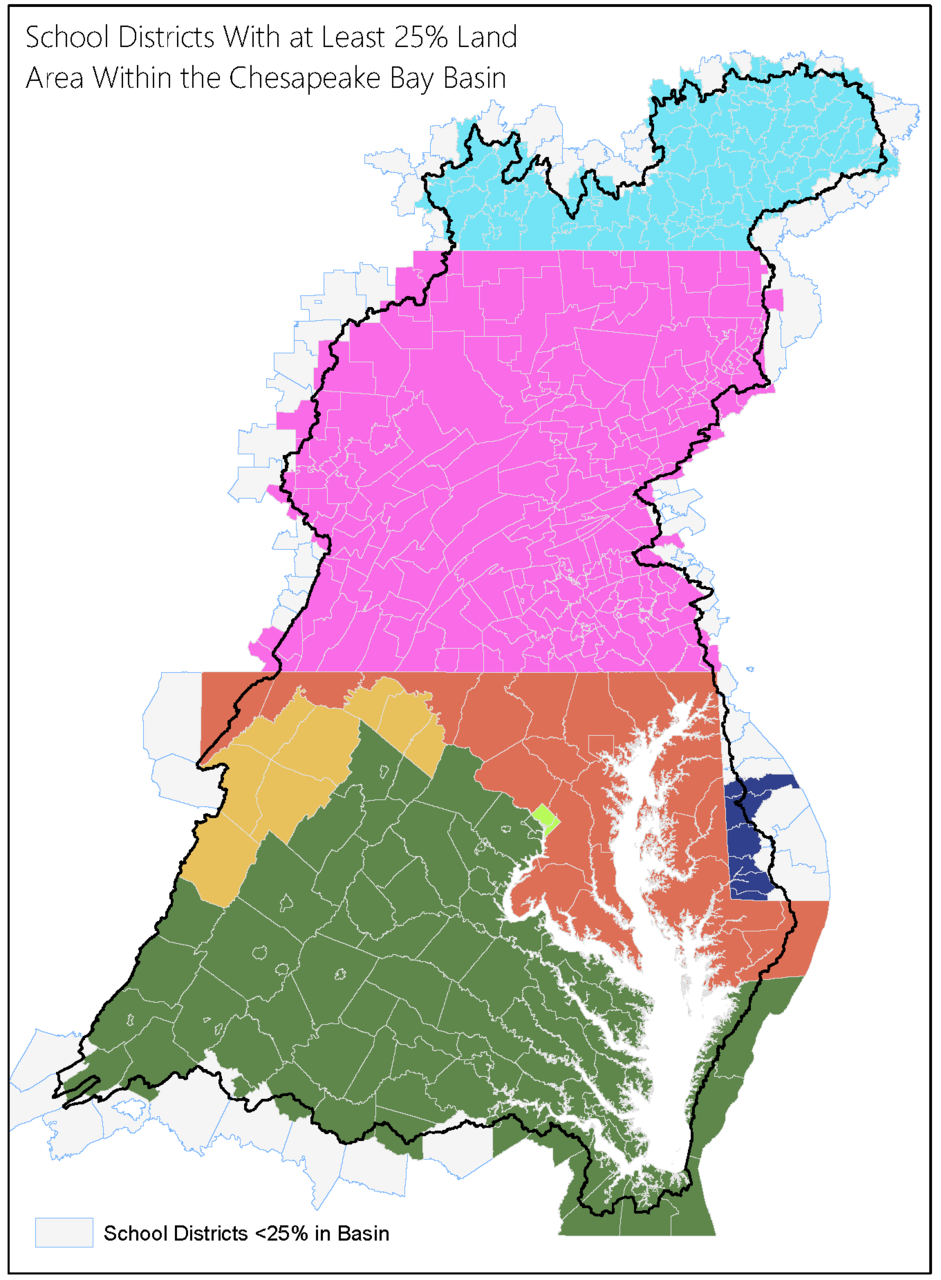 Chesapeake Bay School Divisions Map