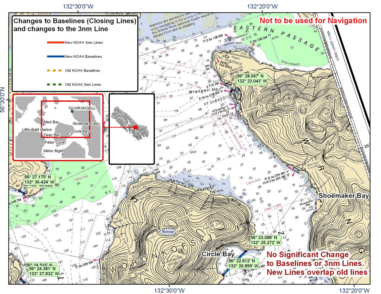 Chart for Circle Bay and the Surrounding Area (Wrangell)