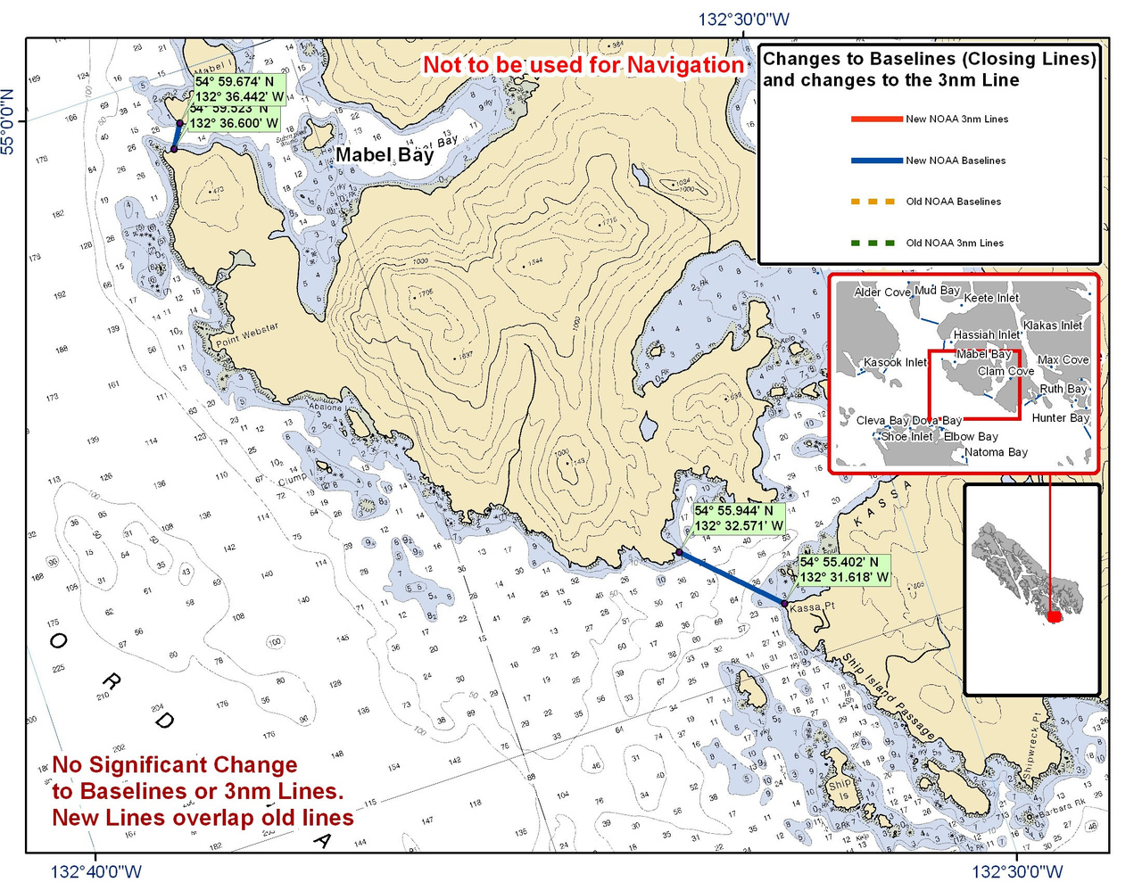Chart for Clam Cove and the Surrounding Area
