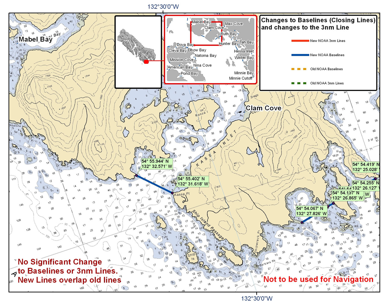 Chart for Clam Cove