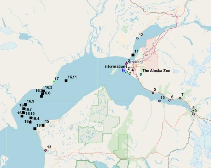 Interactive Map of Belugas Count! Counting Stations