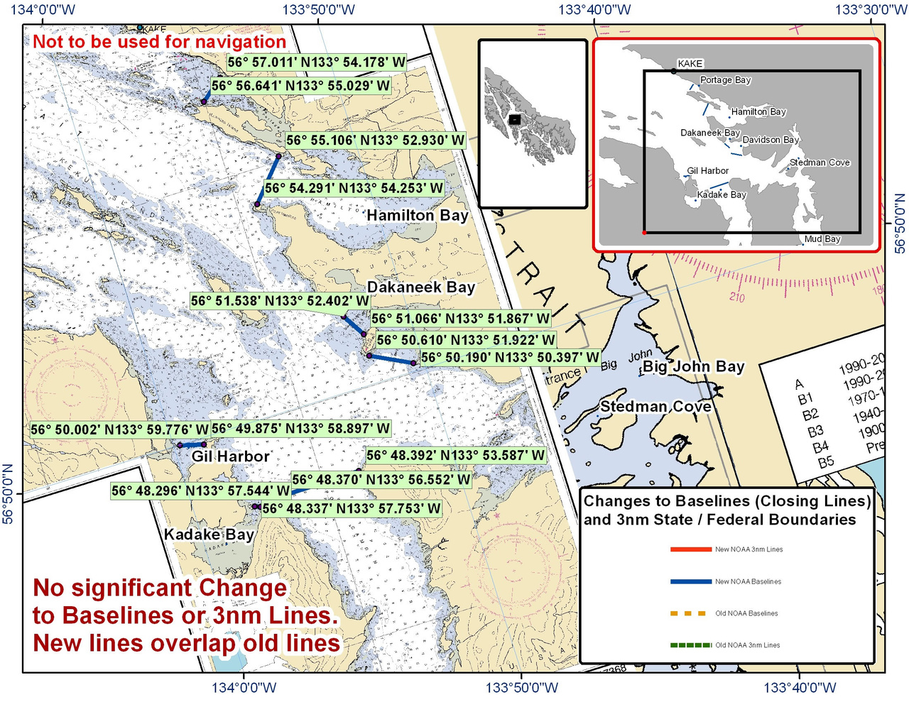 Chart for Dakaneek Bay and the Surrounding Bay