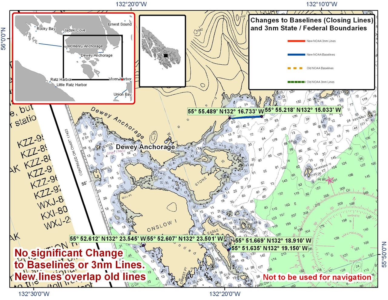 Chart for Dewey Anchorage