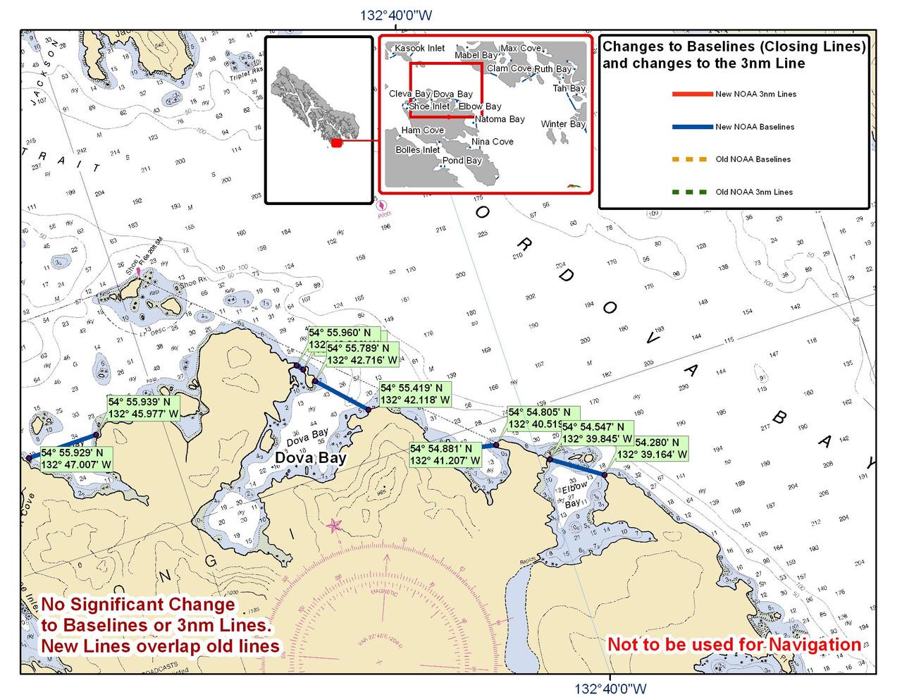 Chart for Dova Bay