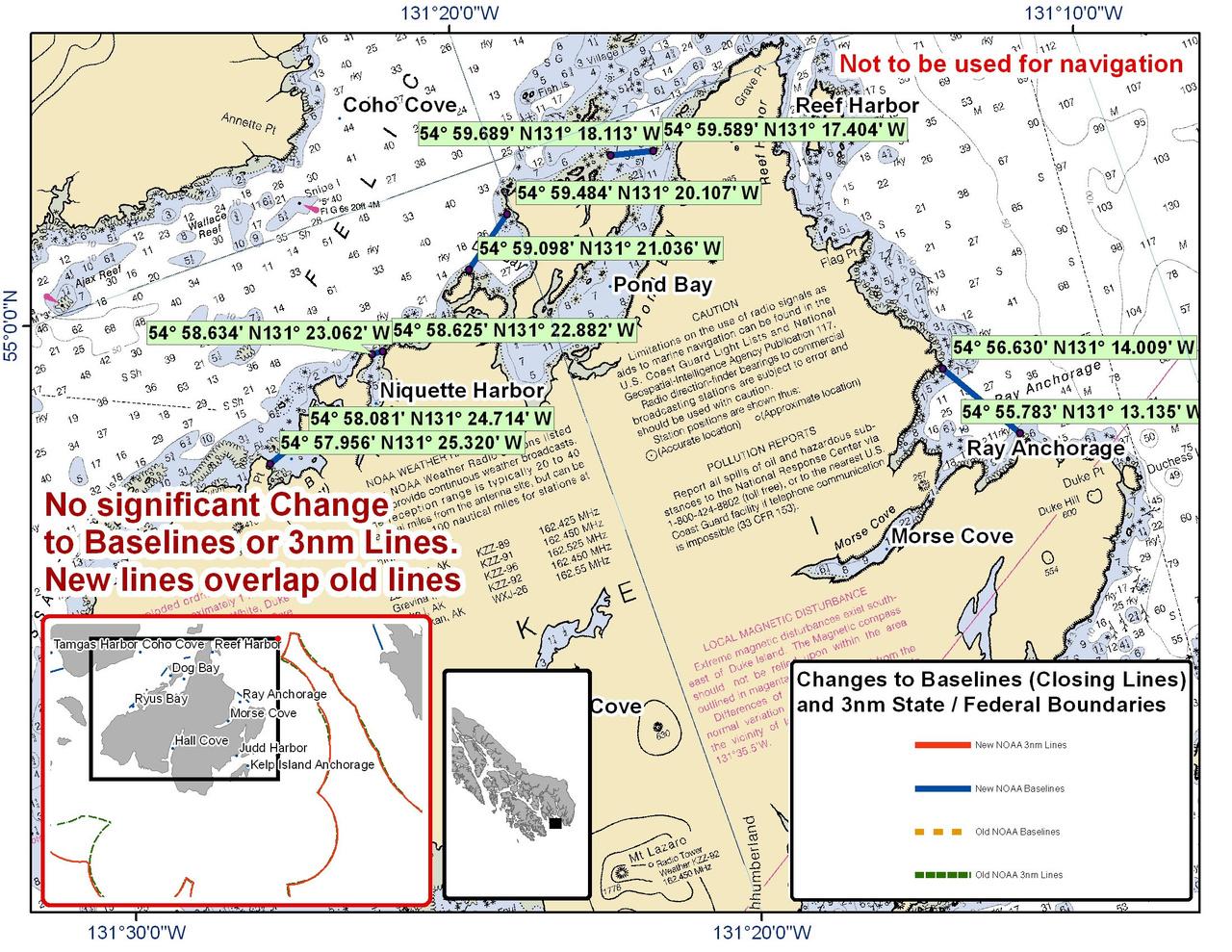 Chart for Duke Island