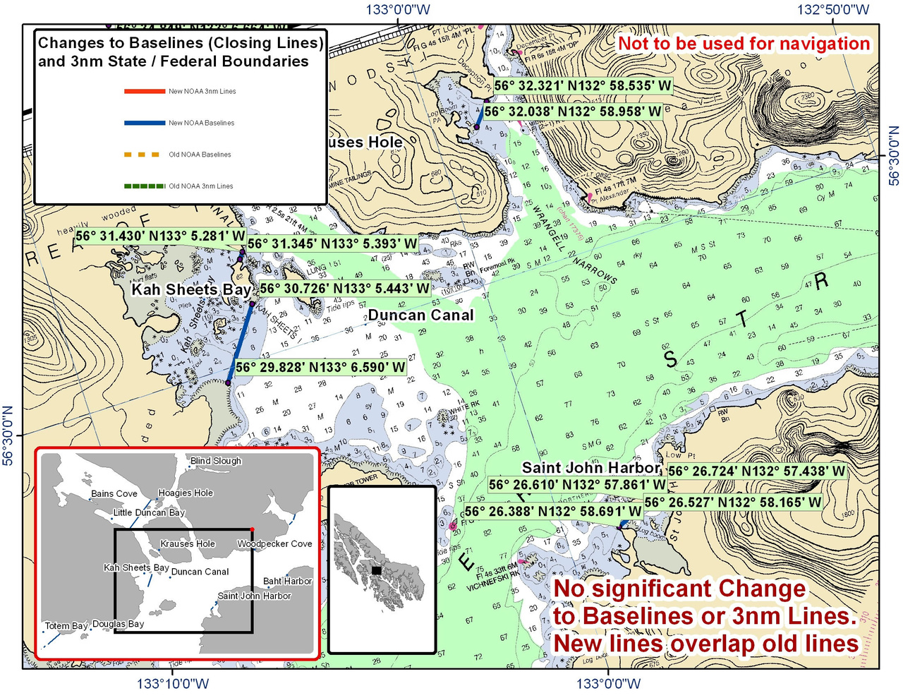 Chart for Duncan Canal and Saint John Harbor and the Surrounding Area