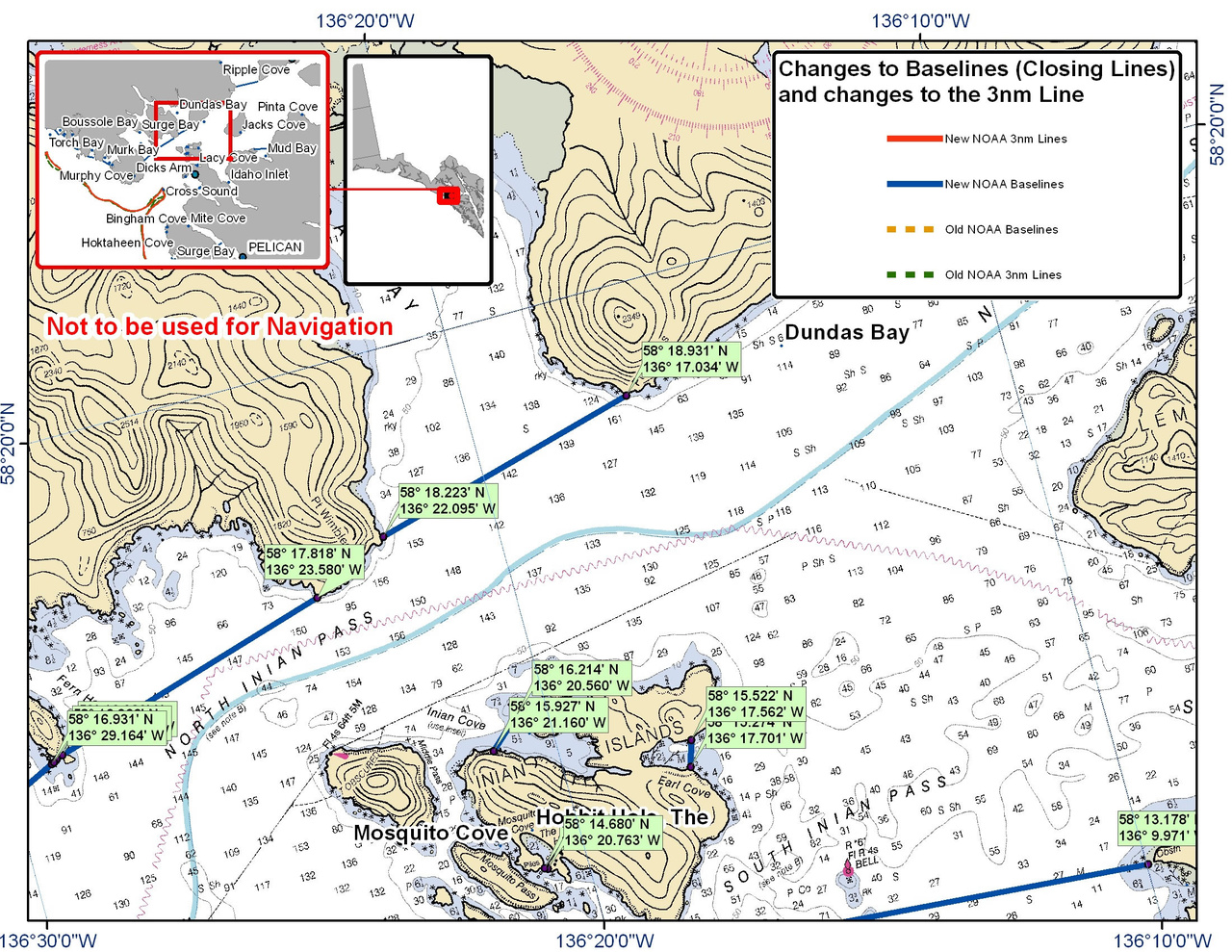 Chart for Dundas Bay