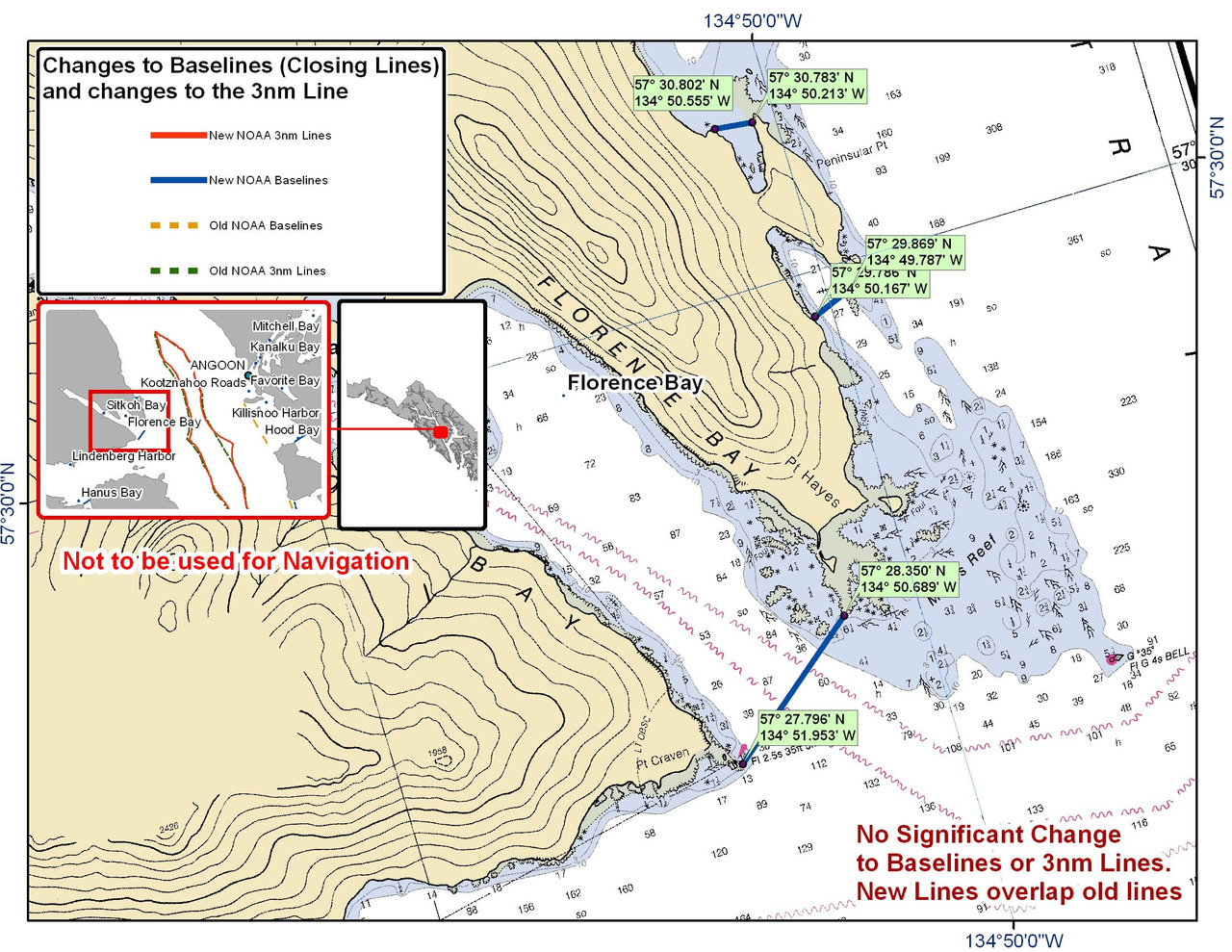Chart for Florence Bay