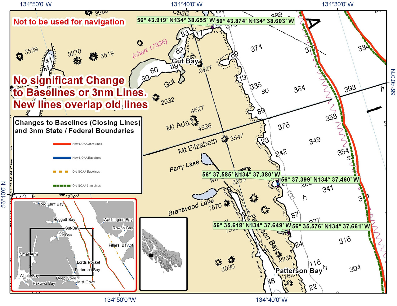 Chart for Gut Bay and the Surrounding Area
