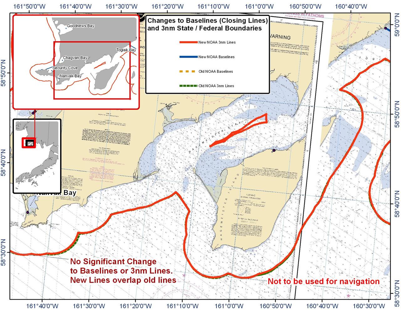 Chart for Hagemeister Strait