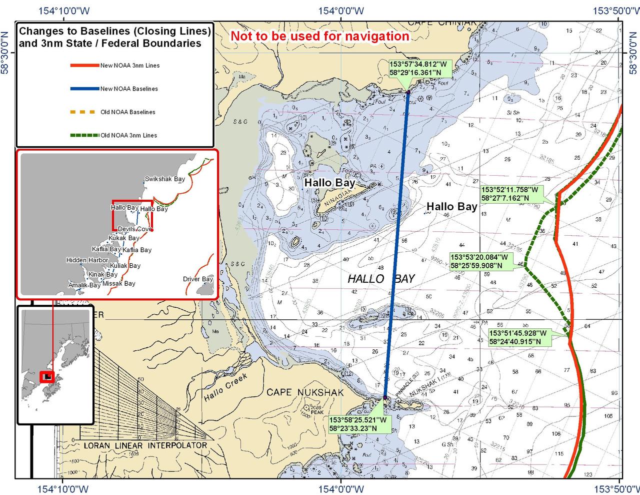 Chart for Hallo Bay