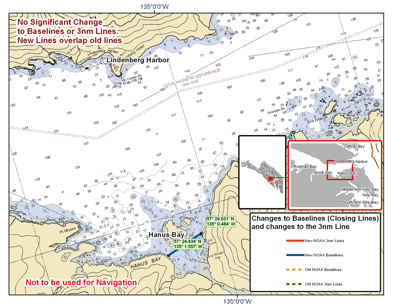 Chart for Hanus Bay