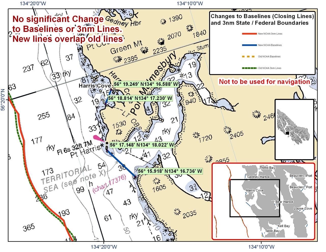 Chart for Harris Cove