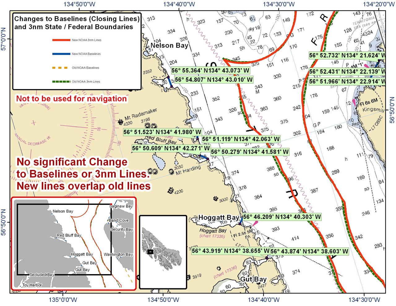 Chart for Hoggart Bay and the Surrounding Area
