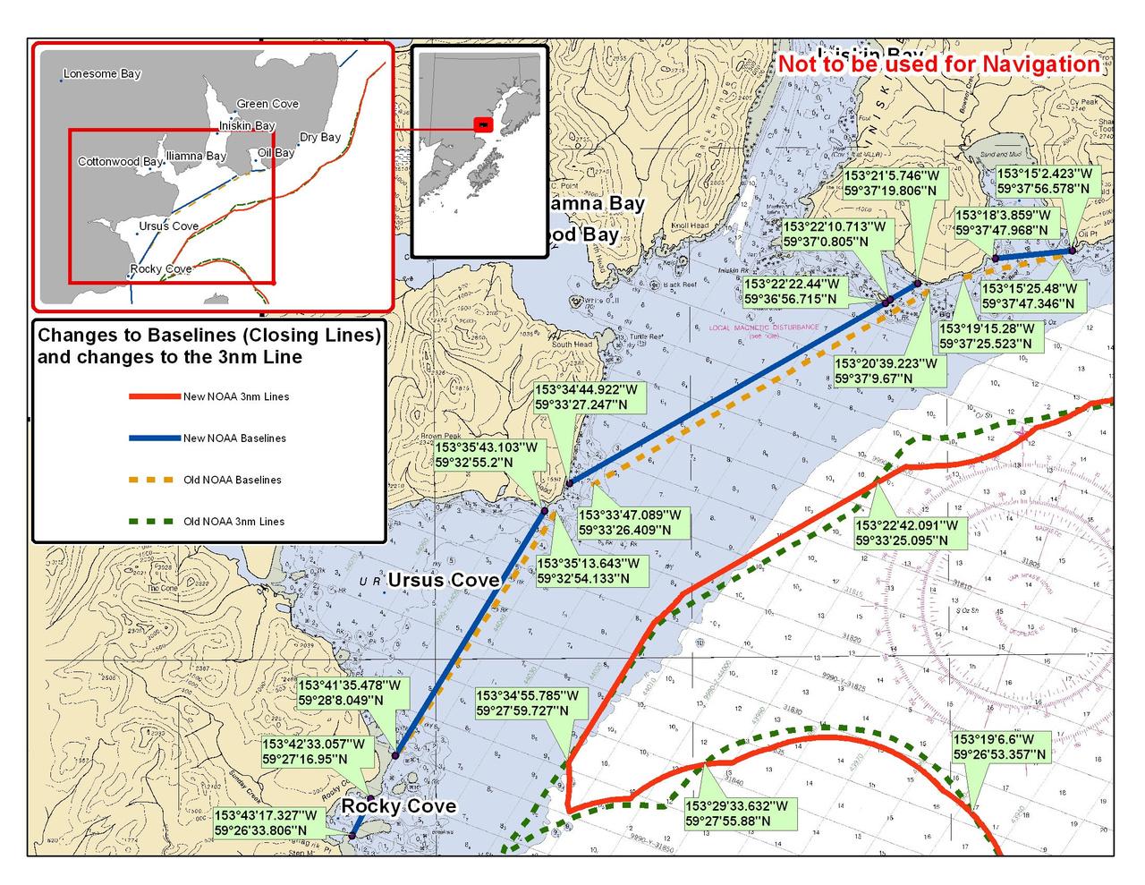 Chart for Illiamna Bay