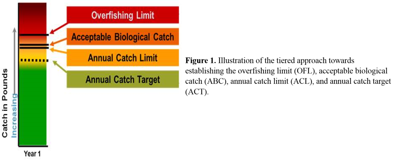 Tiered approach to establish OFL, ABC, ACL and ACT