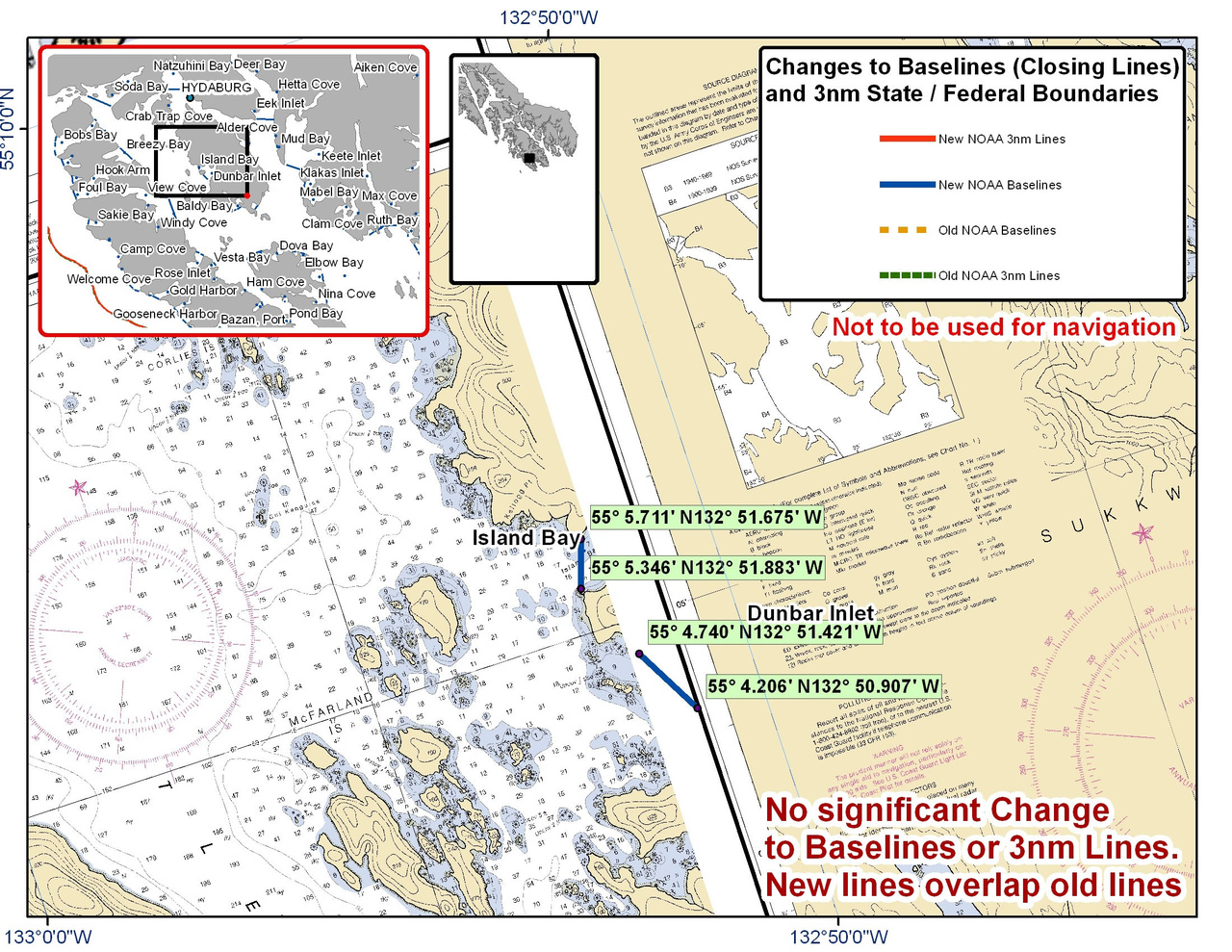 Chart for Island Bay and Dunbar Inlet