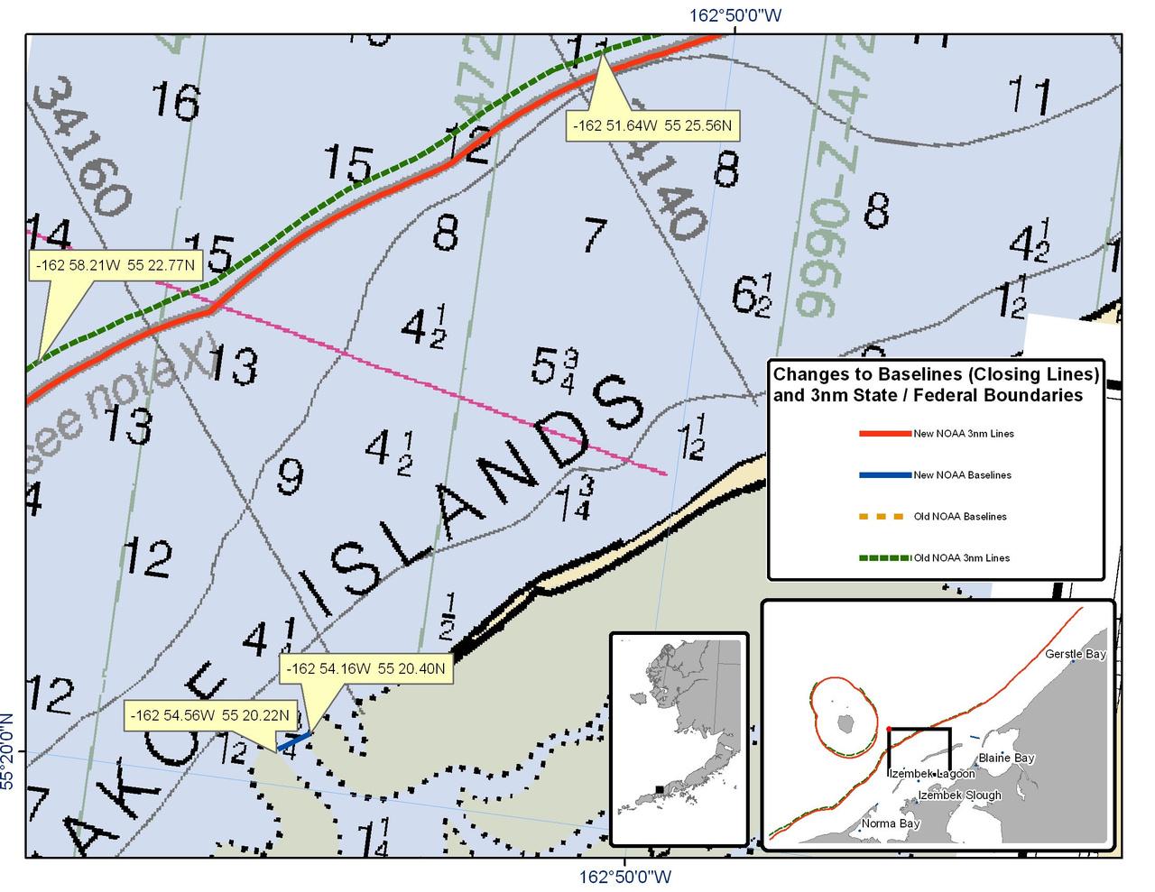 Chart for the Area surrounding Itzembek Lagoon