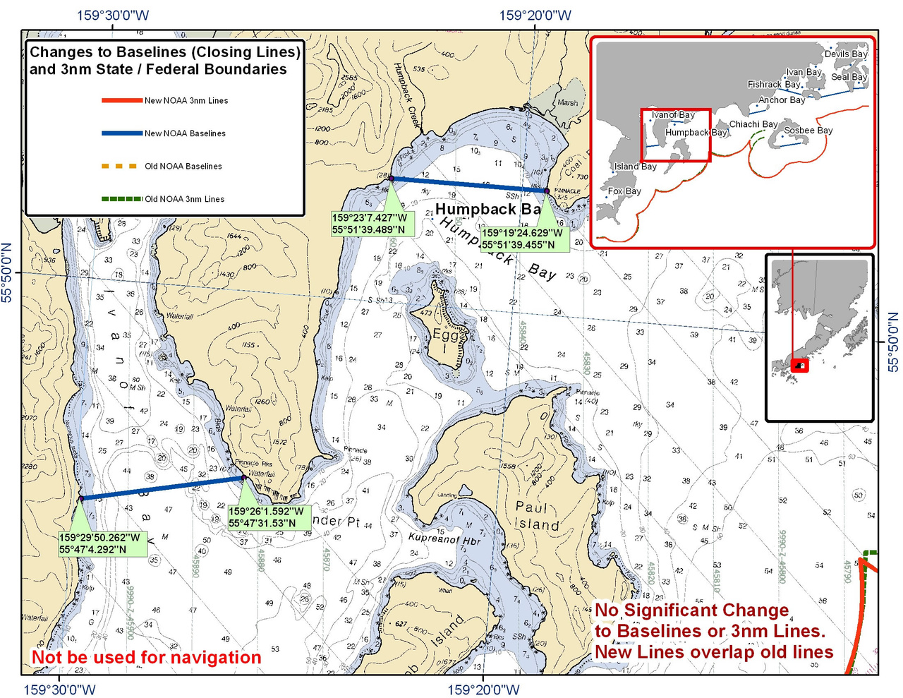 Chart for Ivanof Bay and Humpback Bay